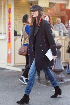 la modella mafia Fall 2014 fashion editor street style - Emmanuelle Alt in Isabel Marant