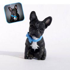 Custom dog figurines made in polymer clay French Bulldog