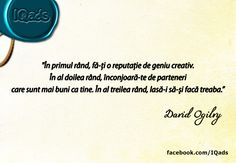 David Ogilvy  www.IQads.ro/expo_94 Mad Men, Learning, David, Design, Studying, Teaching, Onderwijs