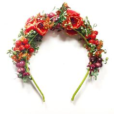 "Headband ""Anne"" from the collection Retro Fashion, Vintage Fashion, Headpieces, Flower Crown, Floral Wreath, Wreaths, Hats, Collection, Jewelry"