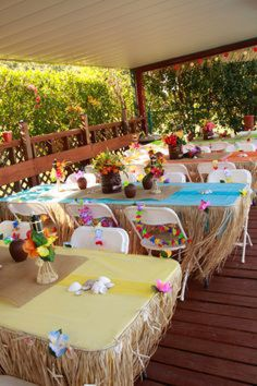 All you need to do to get into the Aloha spirit is to plan a Luau themed party. Luau parties are suitable fo Aloha Party, Hawaiian Luau Party, Hawaiian Birthday, Luau Birthday, Tiki Party, Festa Party, 2nd Birthday Parties, Party Party, Birthday Ideas