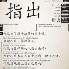 zhǐ chū - 指出 - HSK0