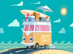 Summer Vibes Animation by Andru Gavrish #Design Popular #Dribbble #shots