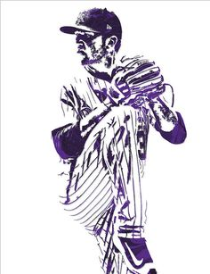 Kyle Freeland Colorado Rockies Pixel Art 1 Art Print by Joe Hamilton. All prints are professionally printed, packaged, and shipped within 3 - 4 business days. Baseball Drawings, Baseball Painting, Joe Hamilton, Rockies Baseball, Thing 1, Colorado Rockies, Sports Art, Diamond Are A Girls Best Friend, All Art