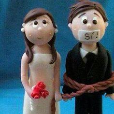 Muñequitos de boda graciosos