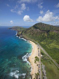 Sandy Beach, Koko Crater, Honolulu, Oahu, Hawaii Photographic Print by Douglas… Hawaii Life, Oahu Hawaii, Hawaii Travel, Kauai, Honolulu Oahu, Beach Travel, Turtle Beach, Pearl Harbor, All About Hawaii