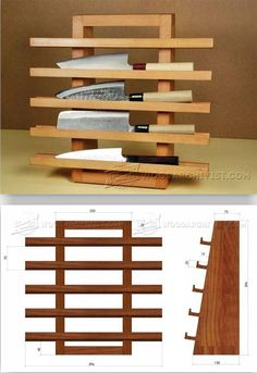 Knife Rack Plans - Woodworking Plans and Projects | WoodArchivist.com