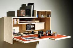 väggmonterad skrivbord med hyllor foto - 5