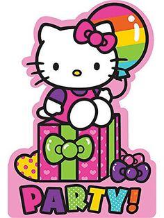 Hello Kitty Rainbow Invitations 8ct