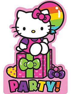 It's time to party! Now let all you friends know with these Hello Kitty Rainbow Invitations. Each 8 card set comes with envelopes and seal stickers.