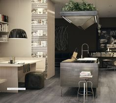 cozy in neutral colors. Cozy Kitchen, Atrium, Neutral Colors, Vanity, Room, Kitchens, House, Inspiration, Furniture