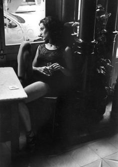 Ferdinando Scianna 1993 SPAIN, Madrid: fashion story with Celia FORNER.