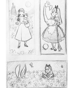 Dorothy and Alice sketches