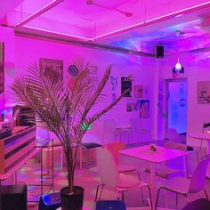 vaporwave bedroom Found on Bing from sp - vaporwave Neon Bedroom, Room Decor Bedroom, Diy Room Decor, Rich Girl Bedroom, Aesthetic Room Decor, Purple Aesthetic, Vaporwave, Neon Led, Bar Design
