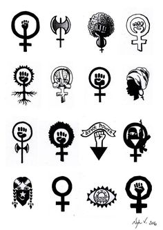 Feminist tattoos - Feminist tattoos You are in the right place about Feminist tattoos Tattoo Design And Style Galleries - Mini Tattoos, Small Tattoos, Acab Tattoo, Piercing Tattoo, Feminist Tattoo, Feminist Art, Feminist Symbols, Venus Symbol, Girl Power Tattoo