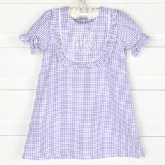 Lilac Check Bib Dress