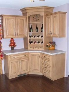 Building Corner Bar For Small Spaces Kitchen Design Small, Kitchen Cabinet Design, Corner Bar Furniture, Coffee Bar Home, Kitchen Remodel, Bars For Home, Kitchen Furniture Design, Home Kitchens, Kitchen Renovation
