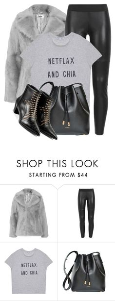 """""""WOLFANDBADGER.com"""" by monmondefou ❤ liked on Polyvore featuring Jakke, My Love My Leggings, Gem&i, black and gray"""
