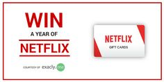 Enter to Win a Year of Netflix courtesy of exacly.me  http://blog.exacly.me/giveaways/a-year-of-netflix/?lucky