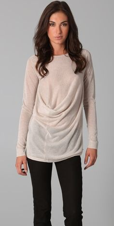 front gathered sweater...never seen before but love it!