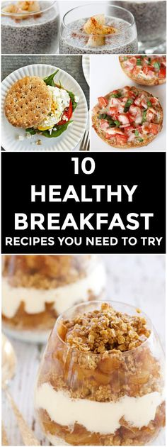 Healthy, quick, and make-ahead breakfast recipes for a more energetic morning.