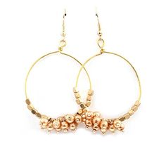 I'm totally excited to make something similar to this. Mimi Chandelier Earrings in Gold on Gold on Emma Stine Limited