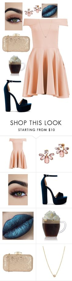 """""""Rose Gold"""" by disney-geek-forever on Polyvore featuring Boohoo, Marchesa, Steve Madden and Zoë Chicco"""