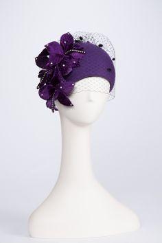 Фиолетовая шляпка
