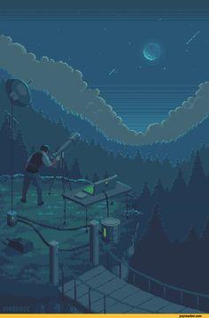 pixel output — Moonlight by kirokaze Wallpapers Tumblr, Animes Wallpapers, Aesthetic Gif, Aesthetic Wallpapers, Pixel Art Gif, Pixel Life, Pixel Art Background, 8 Bit Art, Pix Art