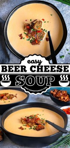 You can't go wrong with this easy comfort food recipe! Loaded with bacon, beer, cheese, and more, a warm bowl of this soup always hits the spot on a chilly day. Pin this dinner idea for later! Cheesy Recipes, Soup Recipes, Beer Cheese Soups, Toscana Soup, Fresh Chives, Hot Soup, Soups And Stews, Bacon Beer, Chowders