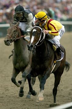 Flashback photo of Horse of the Year Rachel Alexandra winning the Preakness Stakes in 2009 beside her is Kentucky Derby Winner Mine that Bird placing 2nd.