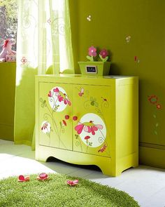 beautiful painted storage chest
