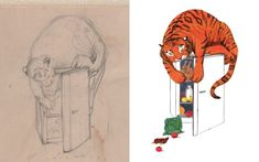 Was the real 'Mog' eccentric? And was the tea-guzzling tiger drawn from life? As she turns Judith Kerr shares her earliest sketches – and tells the story behind her most beloved illustrations. Tiger Illustration, Children's Book Illustration, Book Illustrations, Tiger Drawing, Family Drawing, Tiger Design, Visual Diary, Amen, Sketches