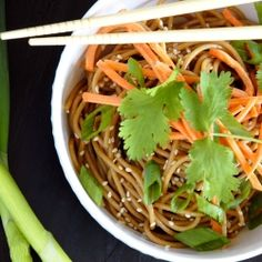 Spicy Cold Sesame Noodles --a great intro to making Asian food!
