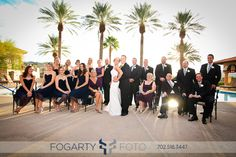 Off-the-Strip Wedding @ The Lake Club Lake Las Vegas Lake Las Vegas, Las Vegas Weddings, Bridesmaid Dresses, Wedding Dresses, Wedding Locations, Wedding Pictures, Wedding Blog, Club, Group Photos