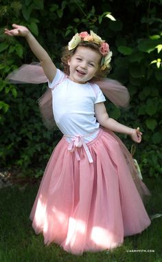 Make a DIY fairy princess costume with hardly any sewing involved! What better way to dress your little princess this Halloween? By Lia Griffith.