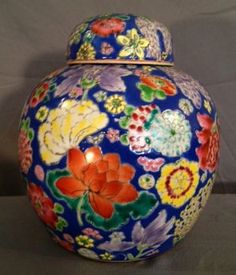 Antique Chinese Porcelain Covered Ginger Jar