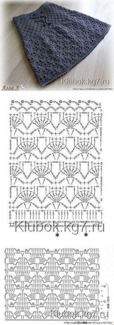"""Firebird"" crochet Belgorod # Belgorod # knitting # Zharptitsa # crochet The p … – Range Vegetables Bloğ Crochet Skirt Pattern, Crochet Skirts, Crochet Diagram, Crochet Stitches Patterns, Crochet Chart, Baby Knitting Patterns, Crochet Motif, Crochet Clothes, Knit Crochet"