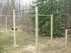Homemade pull up bars