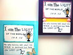 I AM the Light Scripture | LIGHT Verse Plaque. I am the Light of the World... John 8:12 ...