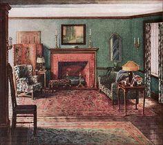 1919 Armstrong Living Room by American Vintage Home, via Flickr