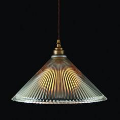 Clear Holophane Coolie Pendant Light | Hotel Lighting | Hotel Lighting
