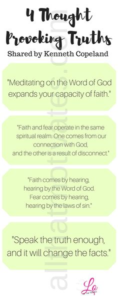 4 thought provoking Kenneth Copeland. #allthatmotivates_ Pinterest…