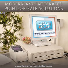 Modern & Integrated Point of sale solutions by Aflak. Telecommunication Systems, Lifting Devices, Retail Solutions, Point Of Sale, Digital Signage, Access Control, Kiosk, Modern, Digital Signature