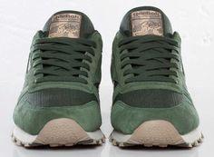 Reebok Classic Leather   Olive   Green   Beige