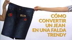 Tutorial: cómo transformar unos jeans en una falda trendy