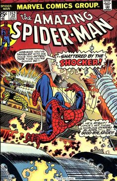 Amazing Spider-Man #152, January 1976, cover by Gil Kane and John Romita.