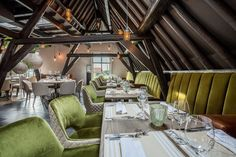 Brasserie Maritime in Zierikzee - By PMP Furniture Cafe Restaurant, Conference Room, Table Settings, Furniture, Design, Home Decor, Brewery, Room Decor, Table Top Decorations