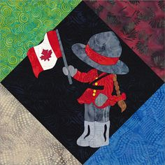 Sue In Canada May Released Today! Flag Quilt, Patriotic Quilts, Quilt Blocks, Girls Quilts, Baby Quilts, Kids Clothing Canada, Canadian Quilts, Quilts Canada, Sue Sunbonnet