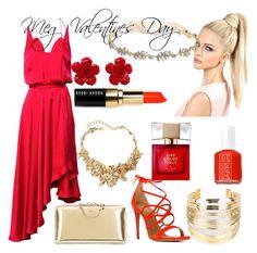 """Meg Valentines Day"" by raynadyke-1 ❤ liked on Polyvore featuring Zimmermann, Marchesa, Aquazzura, Chloé, Oscar de la Renta, WithChic, Chanel, Bobbi Brown Cosmetics, Essie and Kate Spade"